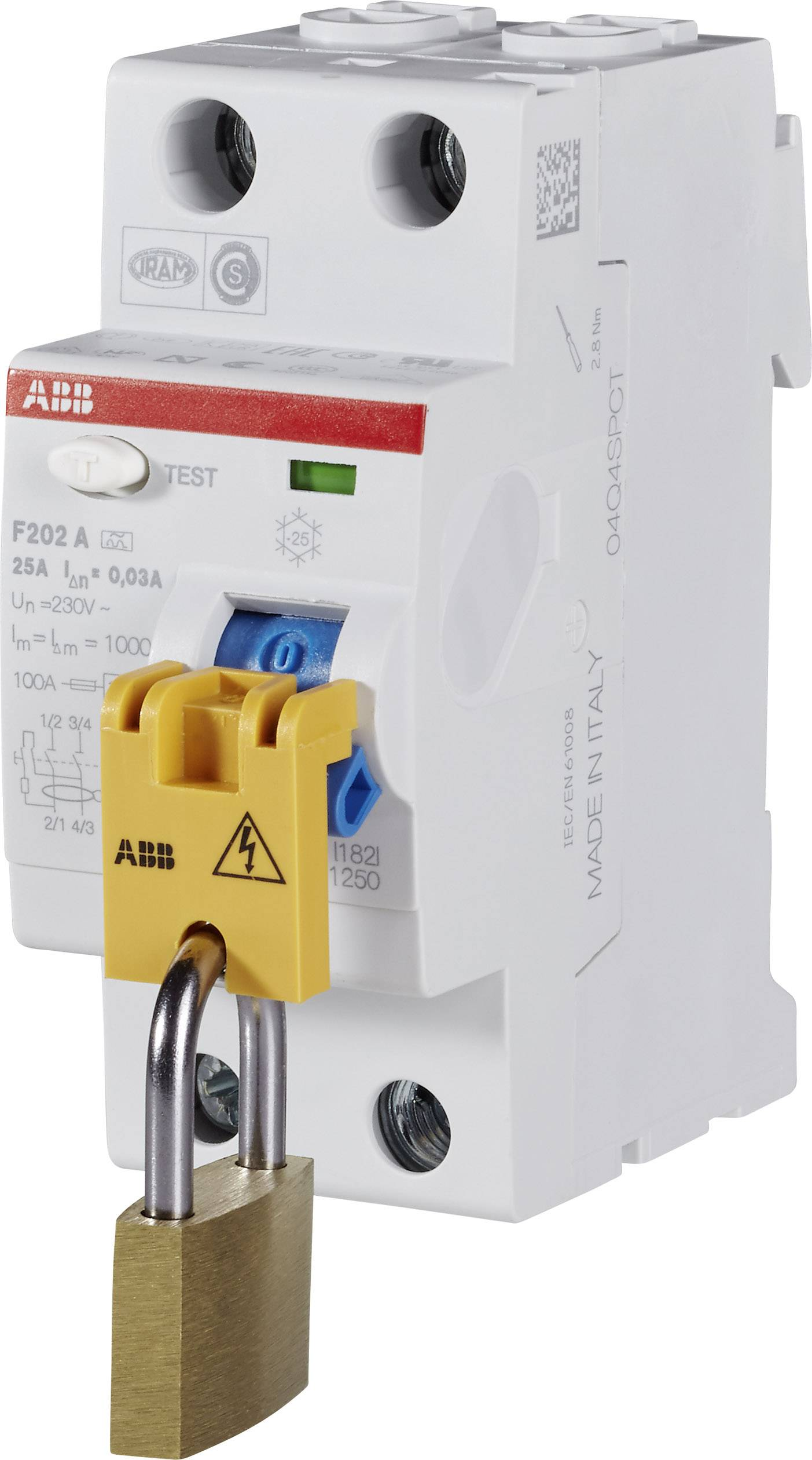 Ochranná víčka proti nebezpečnému dotyku, zamykací ABB
