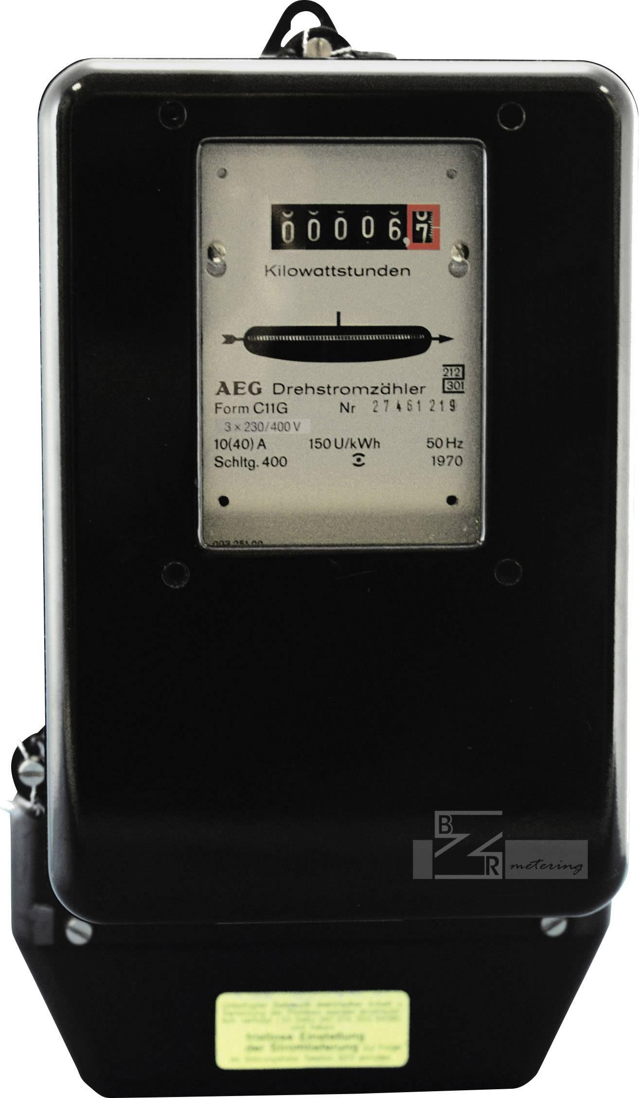 Analogový elektroměr 10/40 A, 3fázový
