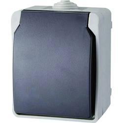 Zásuvka s krytem GAO Standard, 9871, šedá