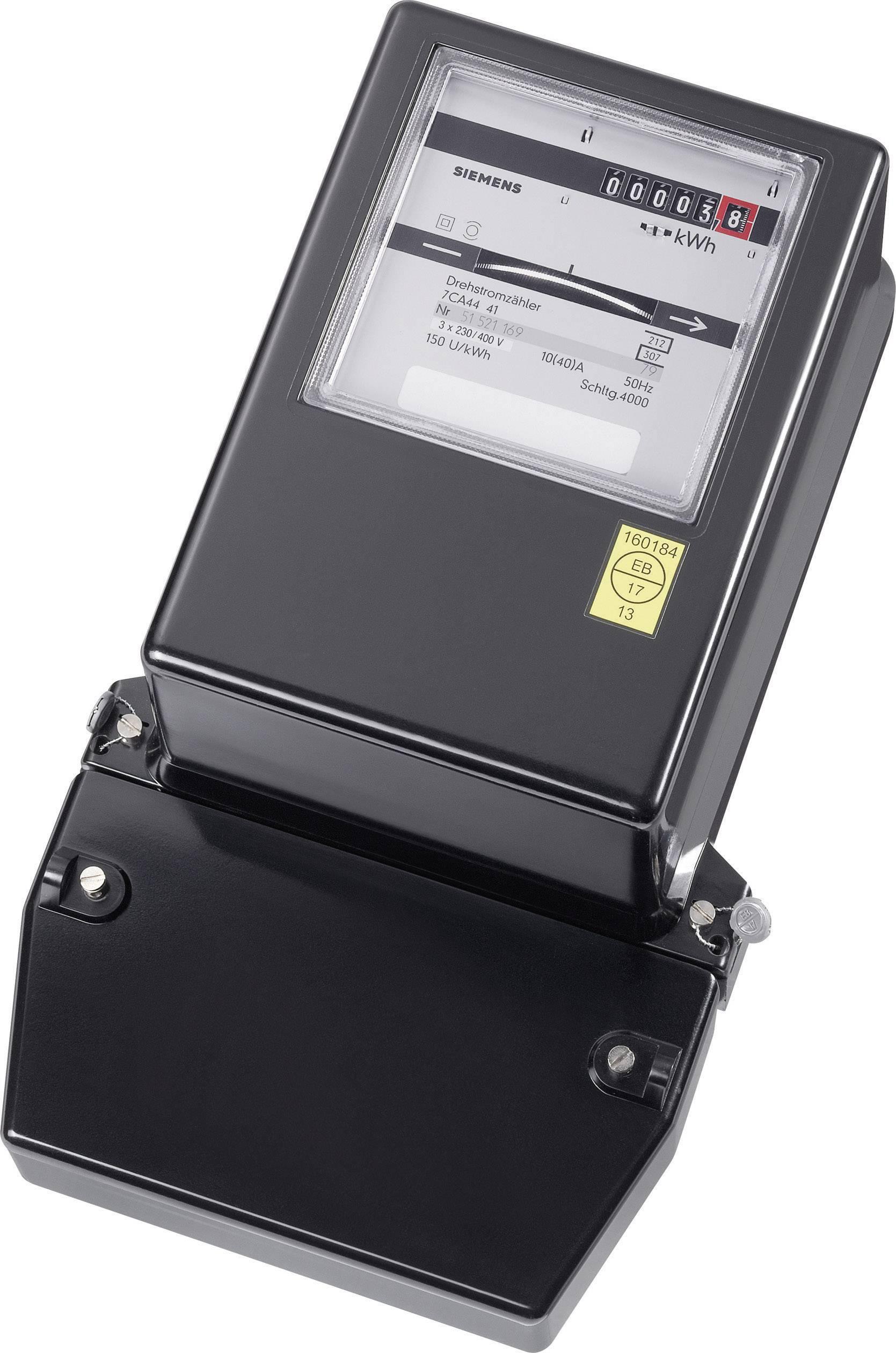 Analogový elektroměr AEG 10/40 A, 3fázový