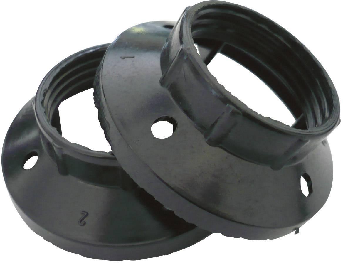 Závitový krúžok E14 0444, sada 2 ks, čierna