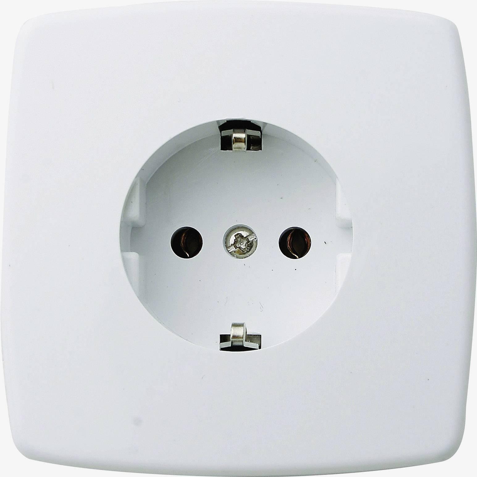 Zásuvka do steny GAO Trend 0301, krémovo biela