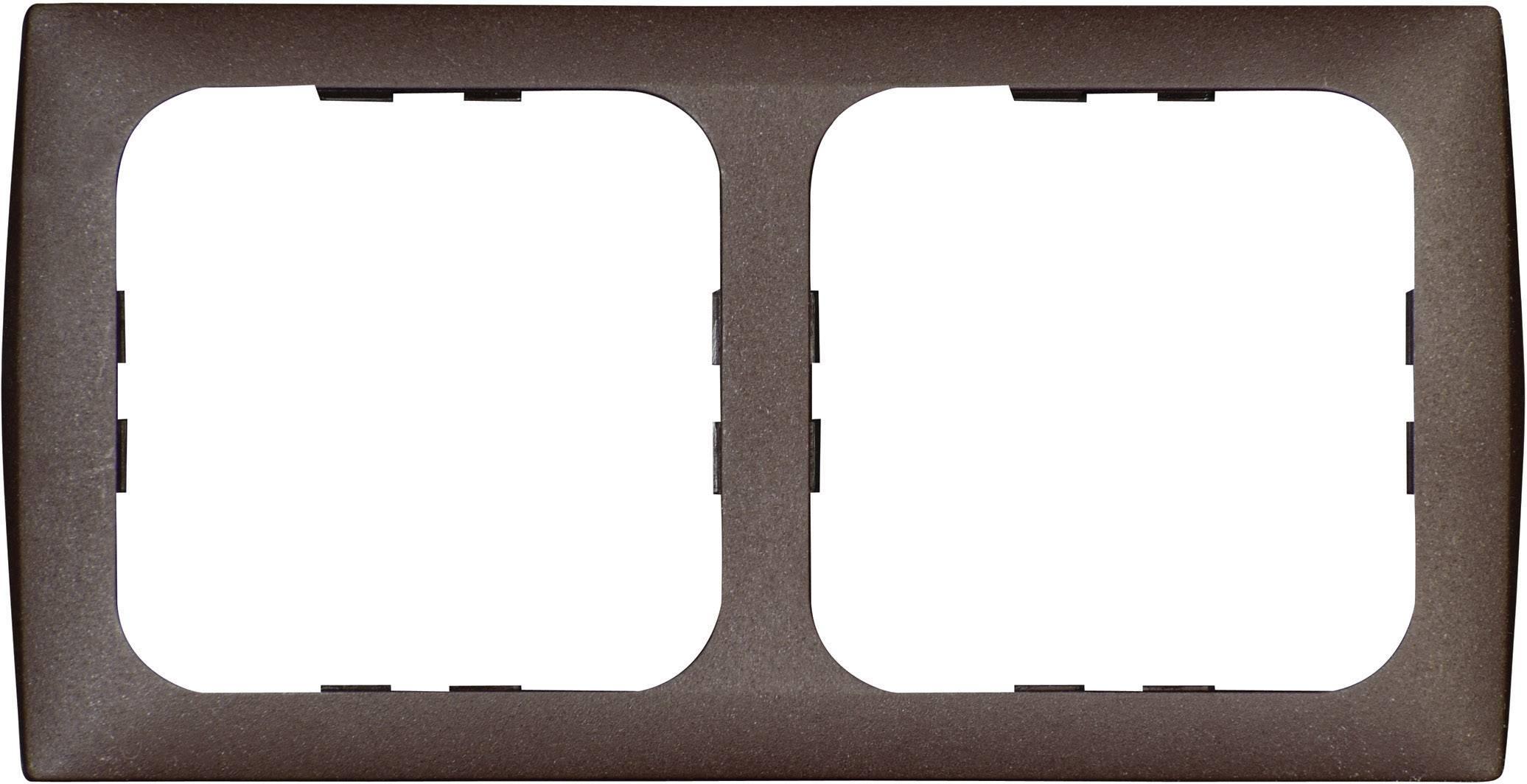 Krycí rámeček Inprojal Elektrosysteme, dvojitý, 113 x 60 mm, hnědá