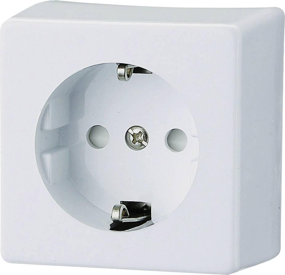 Zásuvka na omietku GAO Prolux 0304, polárna biela