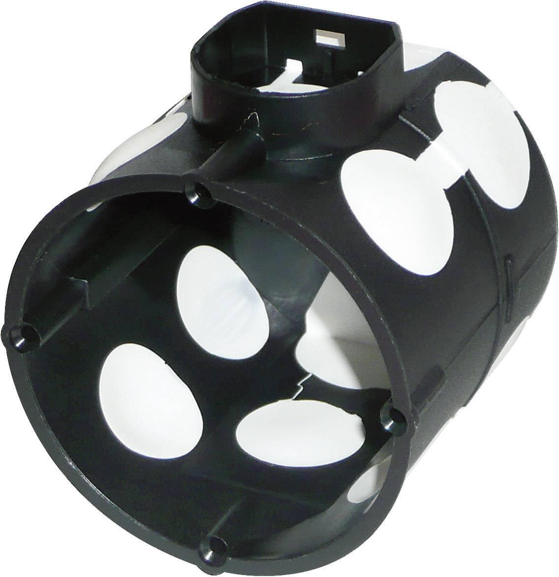Spínačová krabice pod omítku, Ø 60 mm, vzduchotěsná, černá