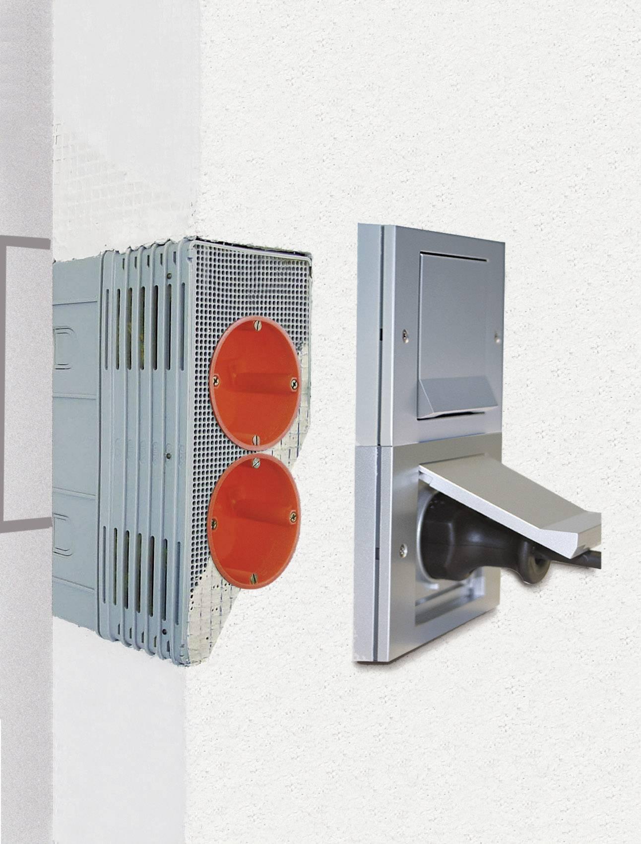 Inštalačná krabica pre zateplené fasády s hrúbkou 60 až 160 mm