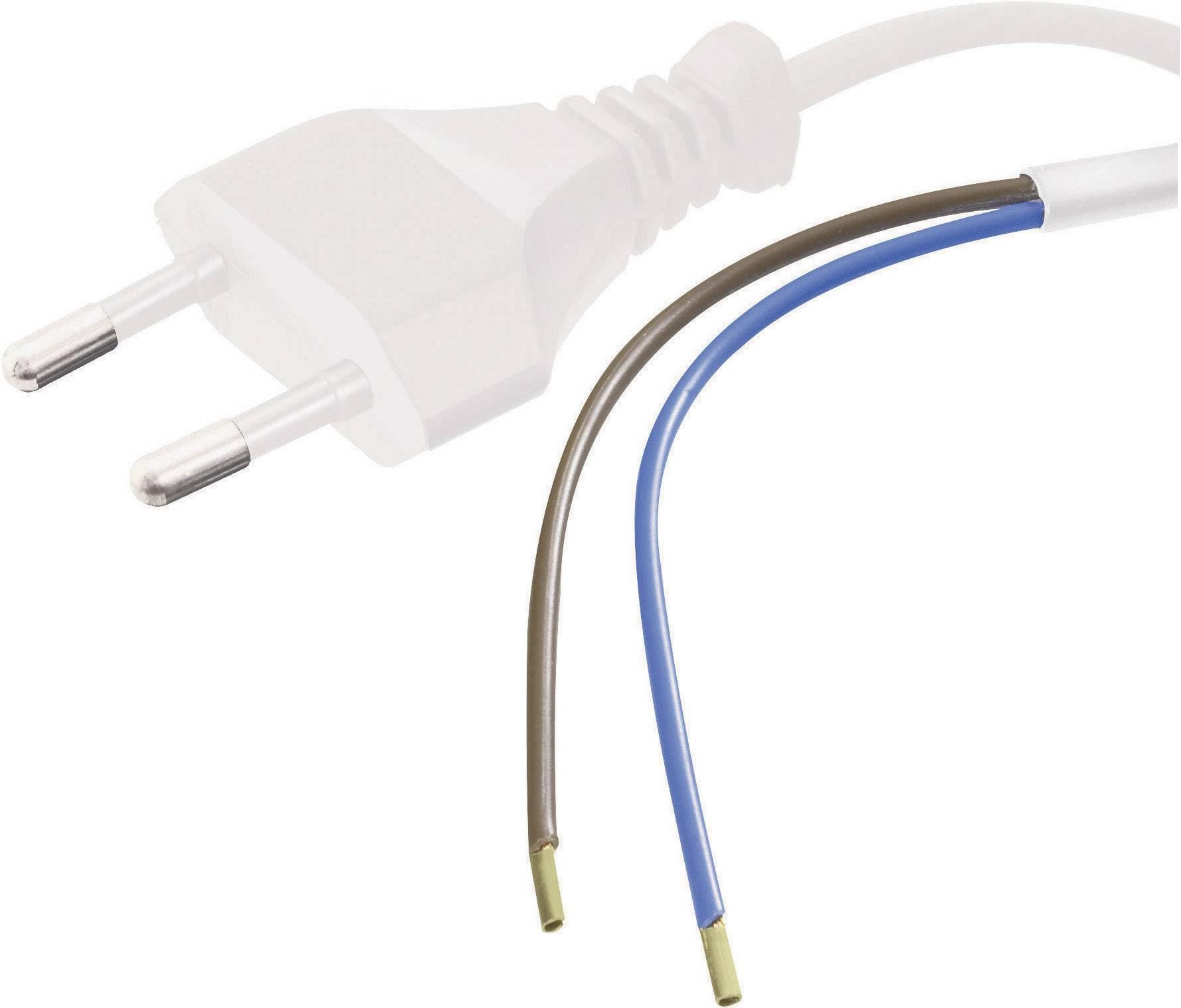Síťový kabel Hawa, zástrčka/otevřený konec, 0,75 mm², 1,5 m, bílá, 1008201