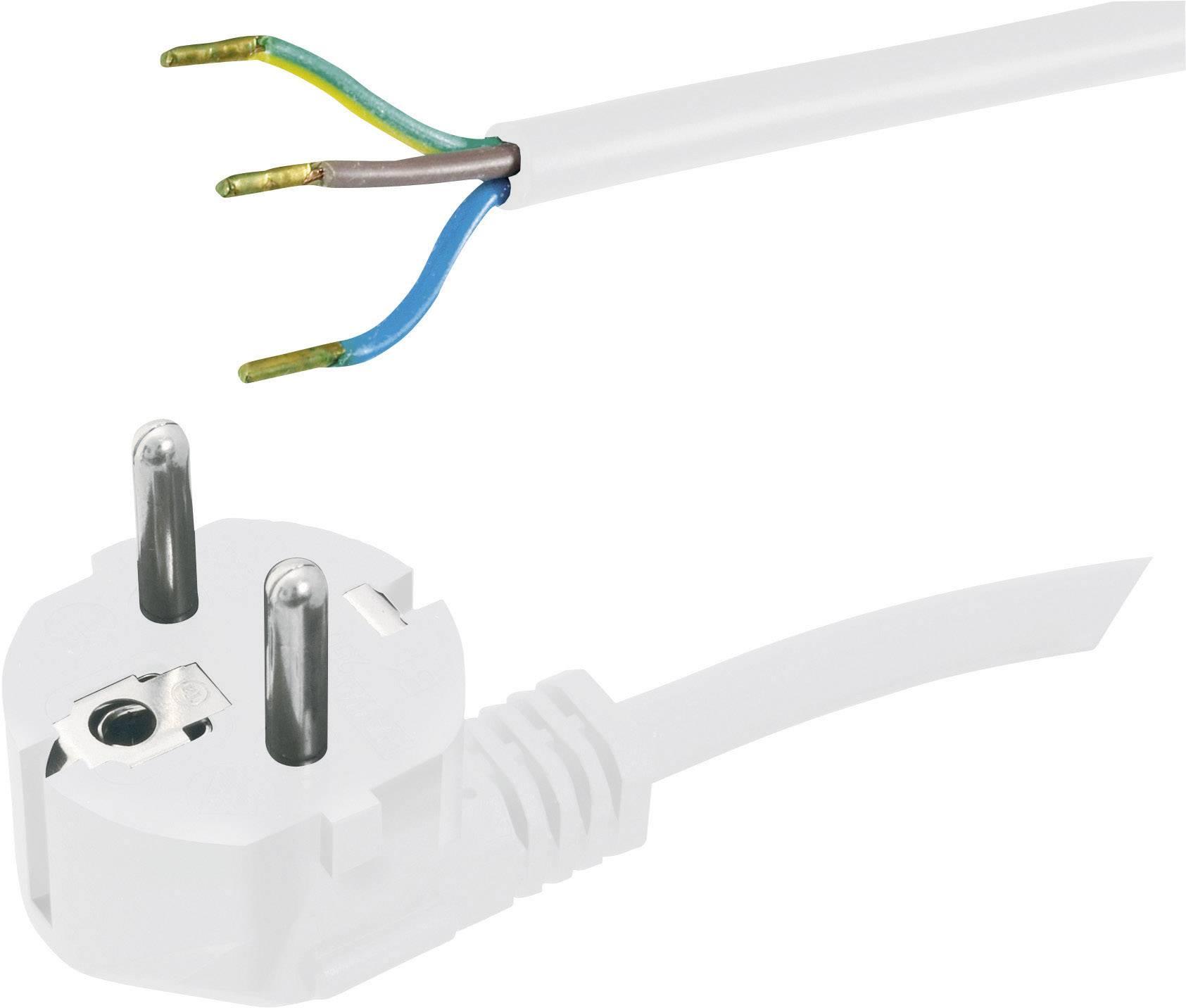 Síťový kabel Hawa, zástrčka/otevřený konec, 1 mm², 2 m, bílá, 1008218