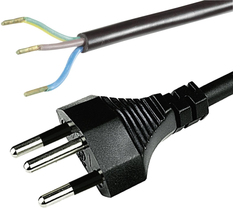 Síťový kabel Hawa, švýcarská zástrčka/otevřený konec, 0,75 mm², 2 m, 1008242