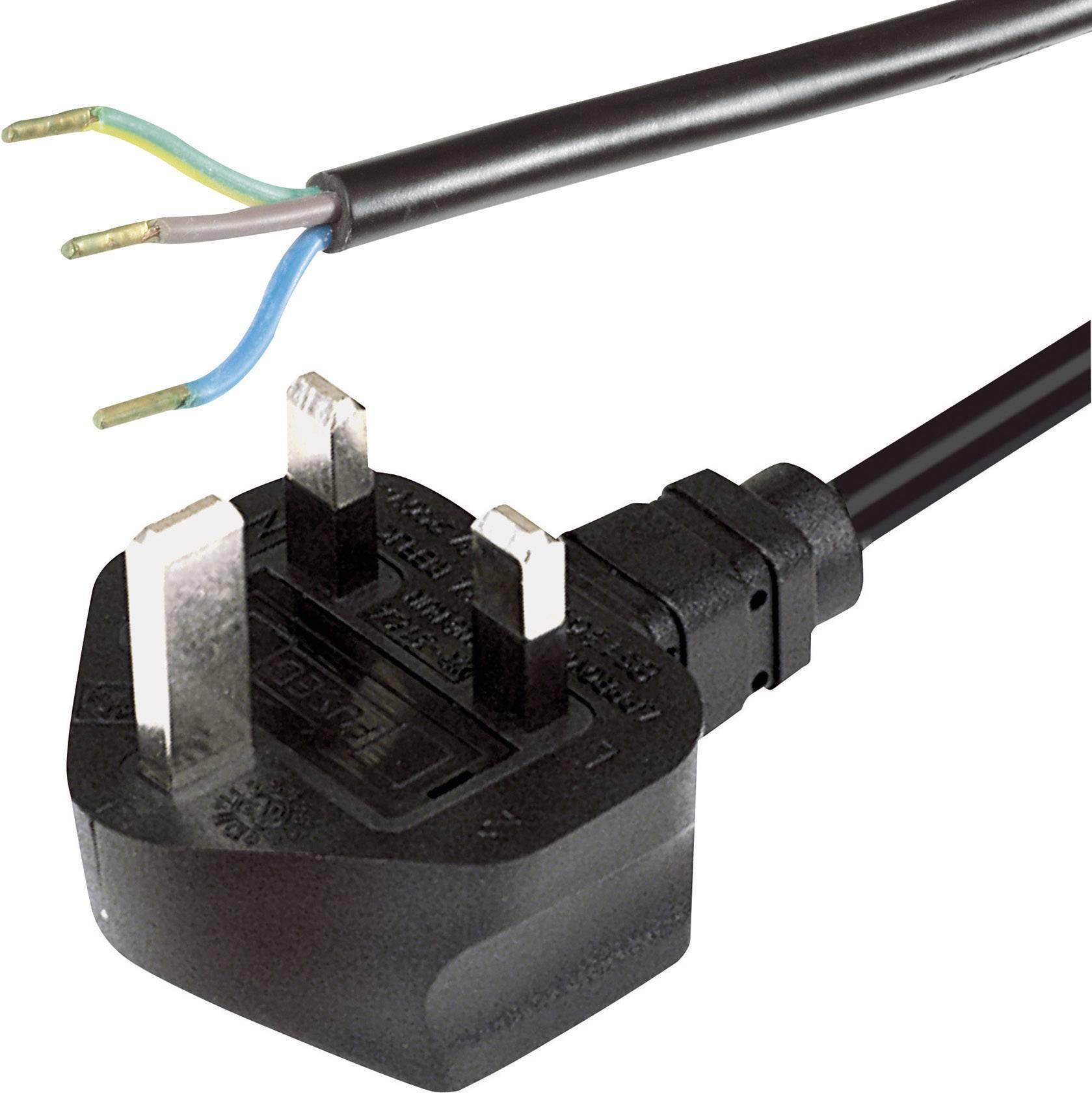 Síťový kabel Hawa, anglická zástrčka/otevřený konec, 0,75 mm², 2 m, 1008244