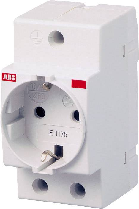 Zásuvka na din lištu bez krytky sivá 16 A 250 V/AC ABB 2CSM210000R0721