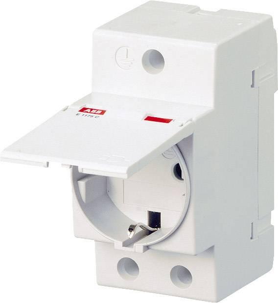 Zásuvka na DIN lištu s krytkou sivá 16 A 250 V/AC ABB 2CSM211000R0721