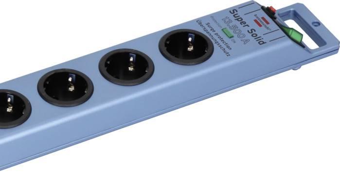 Zásuvková lišta s prepäťovou ochranou, počet zásuviek 8 Brennenstuhl 168D-2 1153340338, 2.50 m, modrá (metalíza)