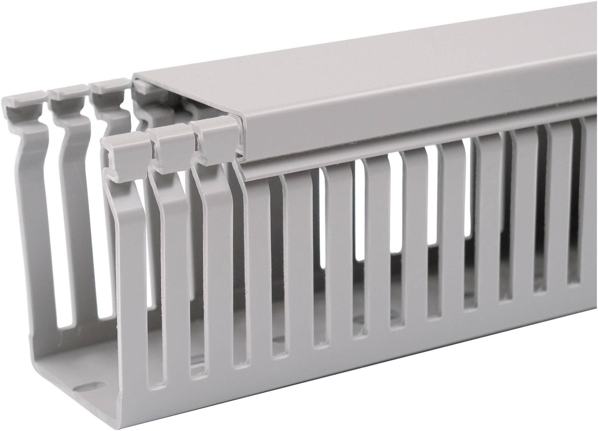 Elektroinstalační lišta OBO Bettermann, 6178016, 80x40 mm, 2 m, šedá
