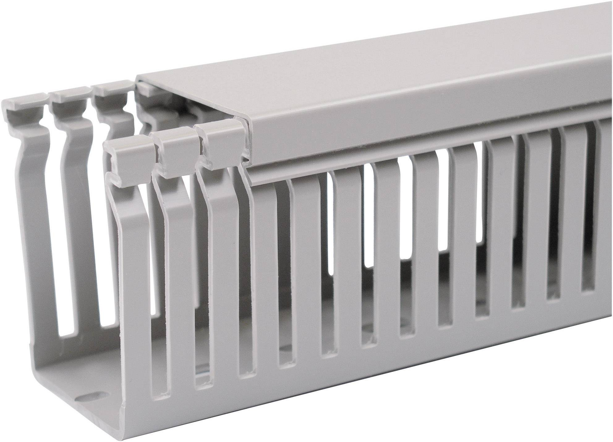 Elektroinstalační lišta OBO Bettermann, 6178033, 60x60 mm, 2 m, šedá