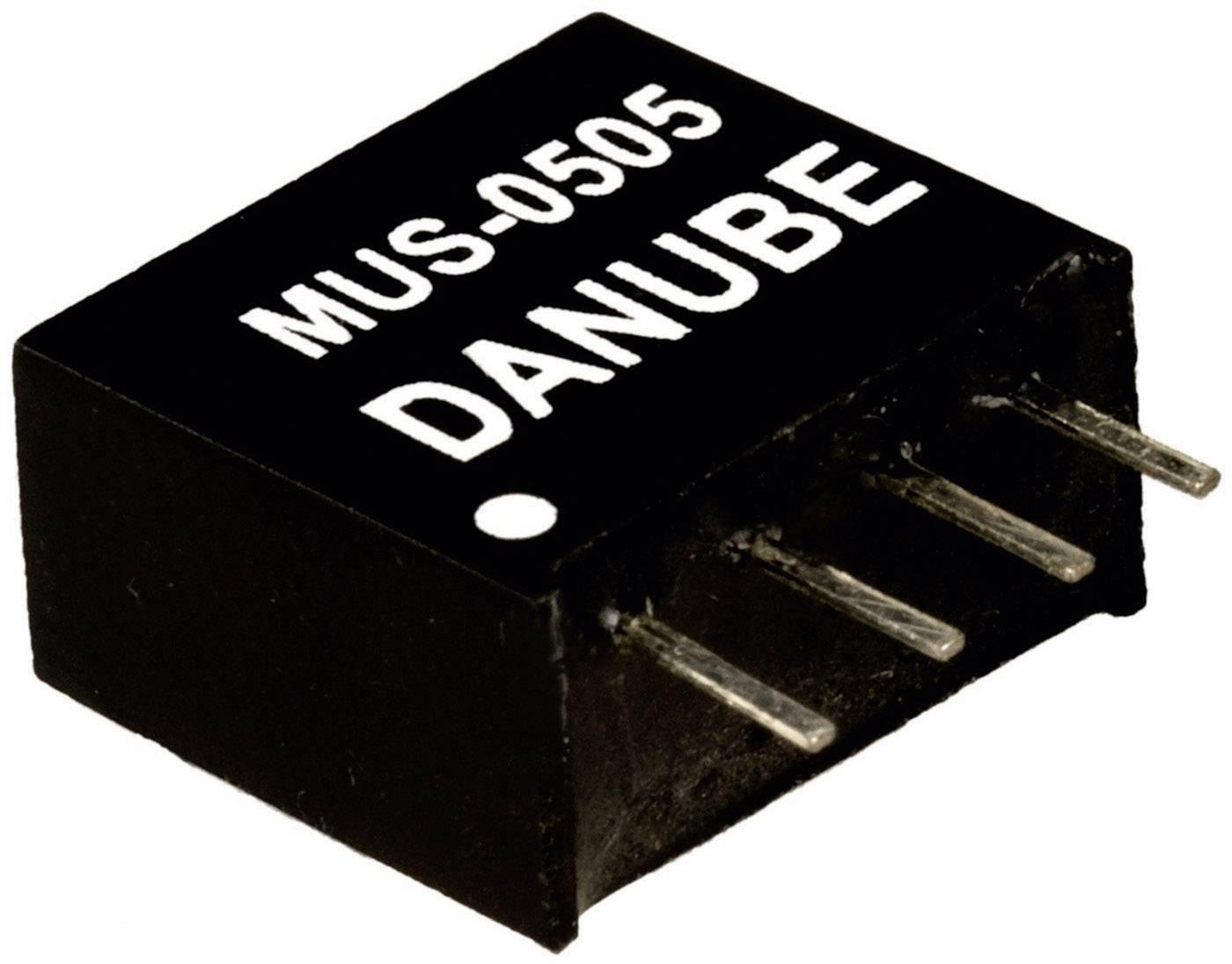 DC / DC menič napätia, DPS Danube MUS-0505, 5 V/DC, 5 V/DC, 200 mA, 1 W