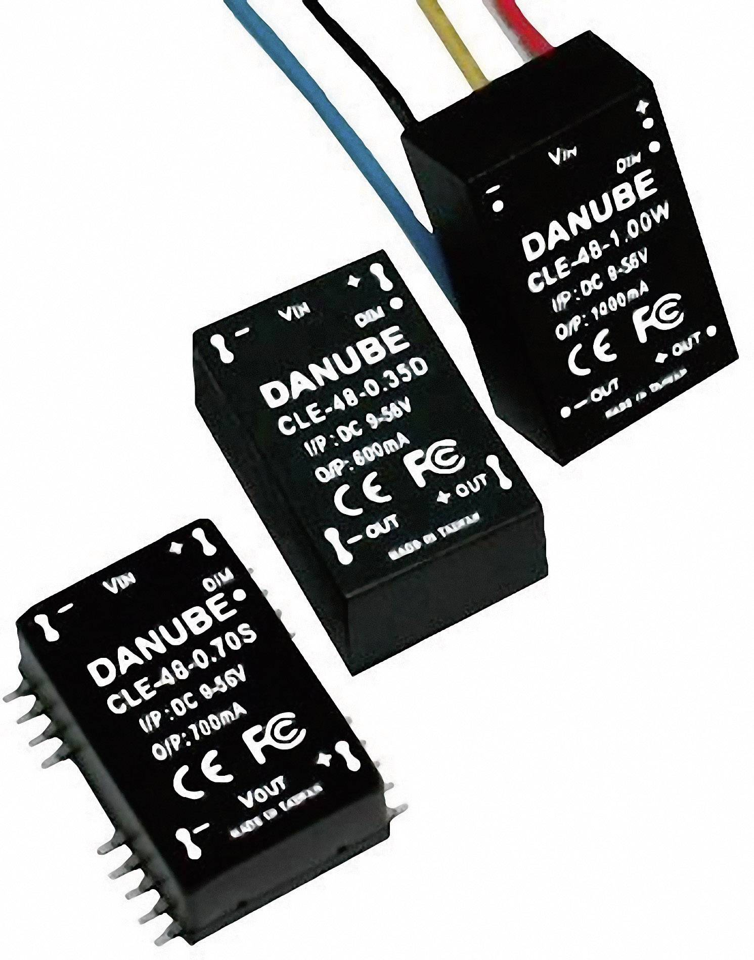 LED driver Danube CLE-48-0.35D, funkce On / Off/stmívání pomocí PWM, 9-56 V/DC