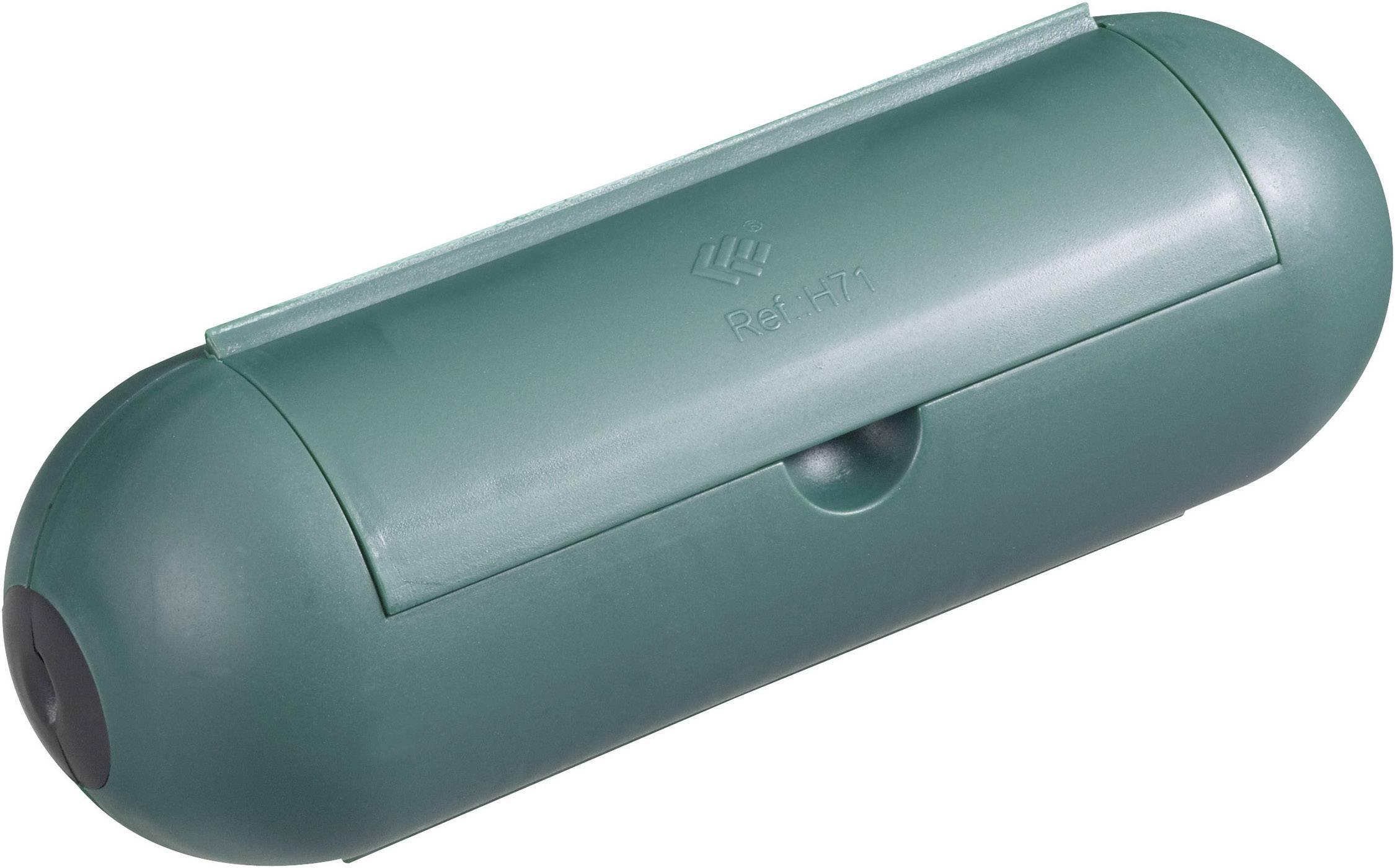 Bezpečnostní kryt na rovnou zástrčku GAO 0392, 180 mm, zelená