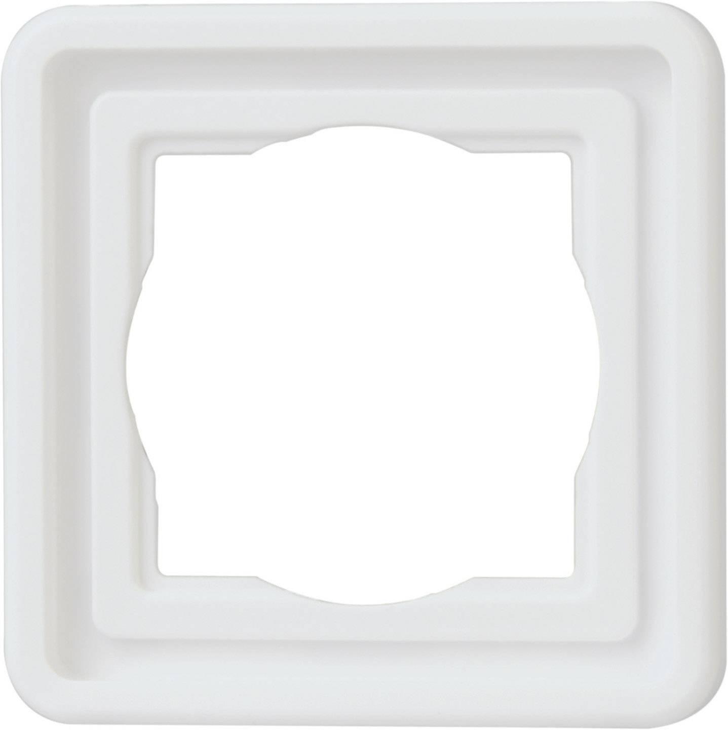 Jednoduchý rámček pre sieťovú zásuvku Arktis 302302071, biela