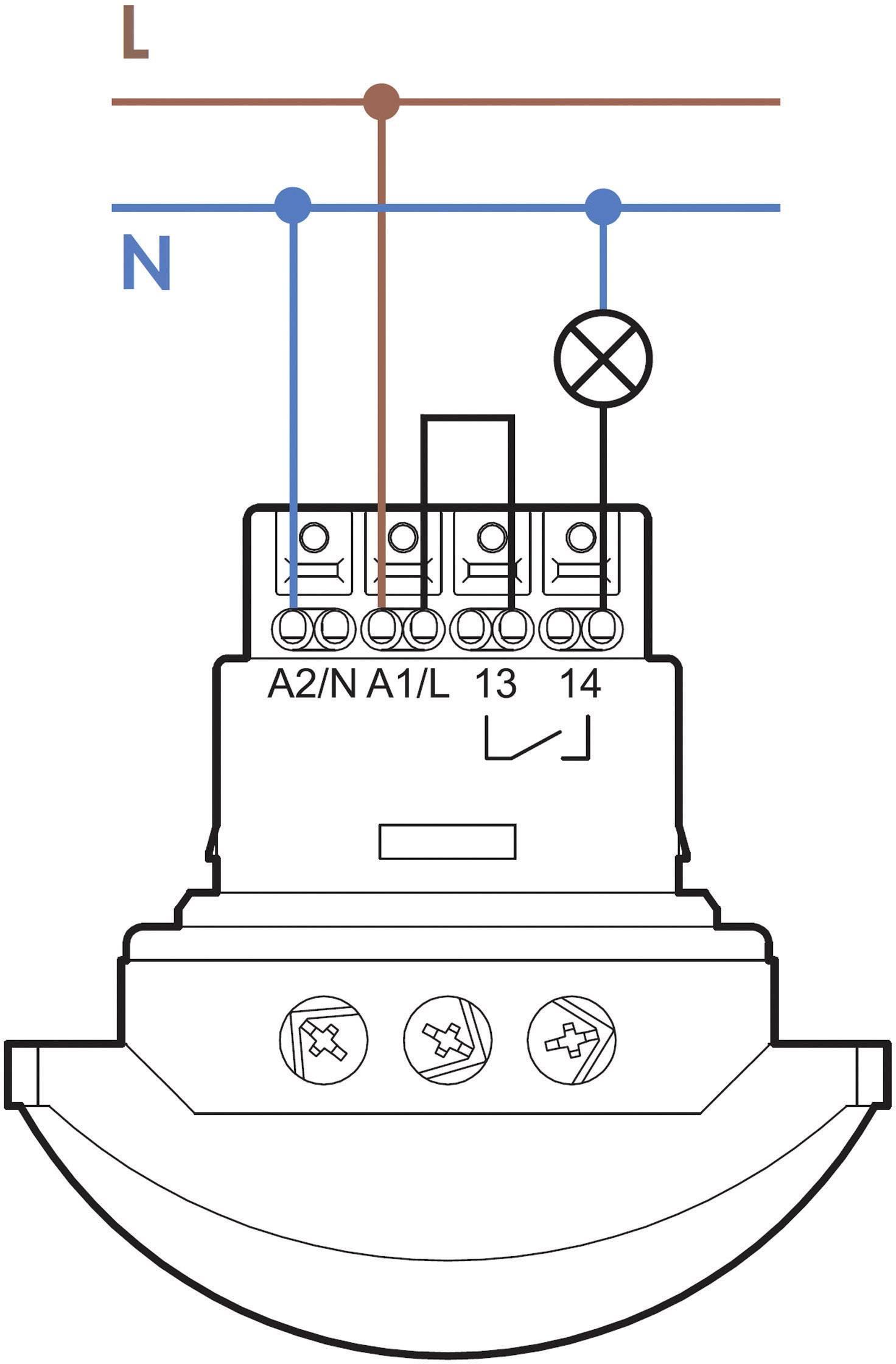 Detektor pohybu Finder 18.41.8.230.0300, 250 V/AC, Max. dosah 30 m