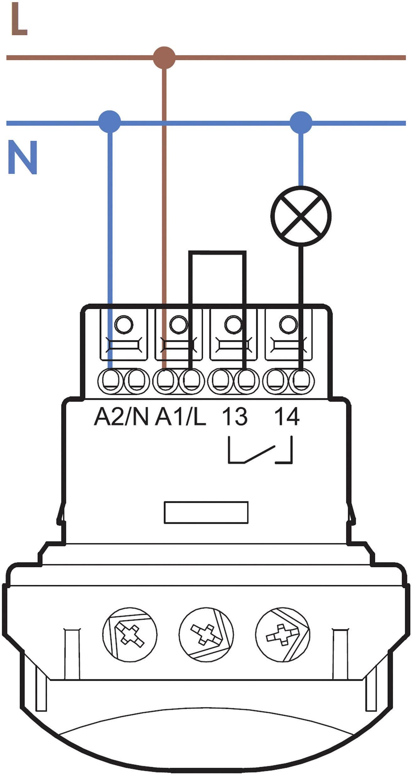 Senzor pohybu Finder 18.51.8.230.0300, 250 V/AC, Max. dosah 8 m