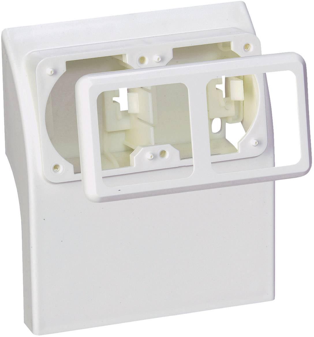 Prázdný zásuvkový díl ke kabelovým lištám, bílý (75581)