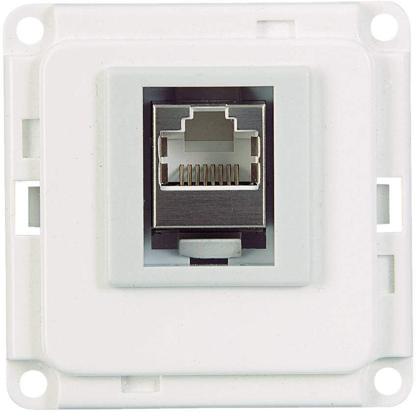 UTP/ISDN/CAT 6 (RJ 45) zásuvka pro zásuvkový díl, bílá (71682)