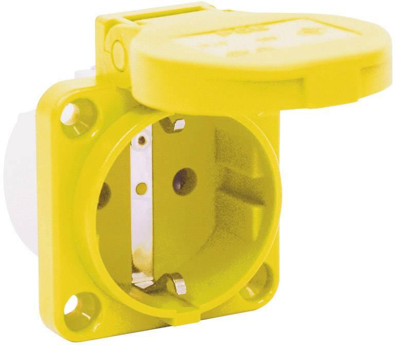Zásuvka so sklopným vekom PCE för Maskin 601.450.05, IP54, žltá