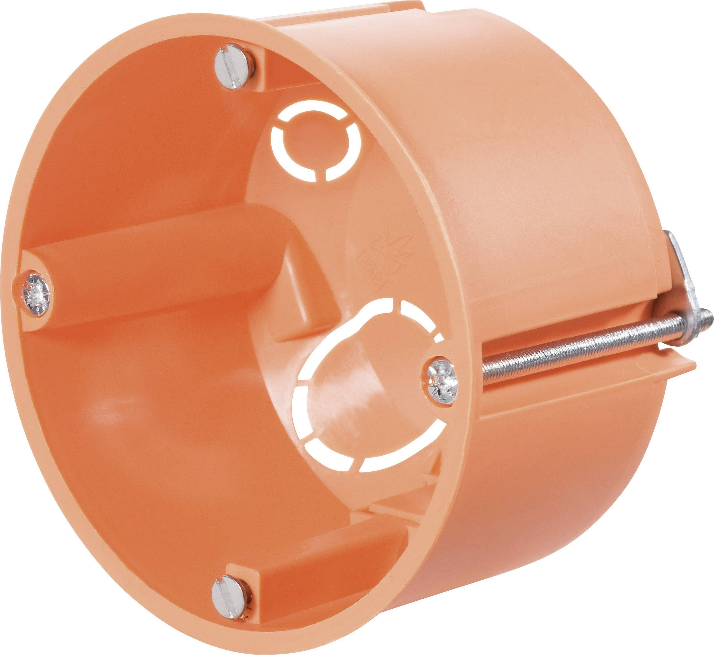 Inštalačná krabica do dutých stien, 68 x 45 mm, oranžová, 10 ks