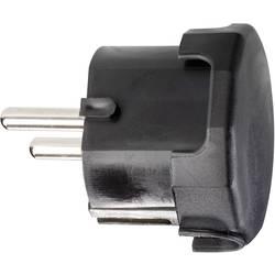 Úhlová zástrčka SchuKo GAO 624446, umelá hmota, IP20, 230 V, čierna