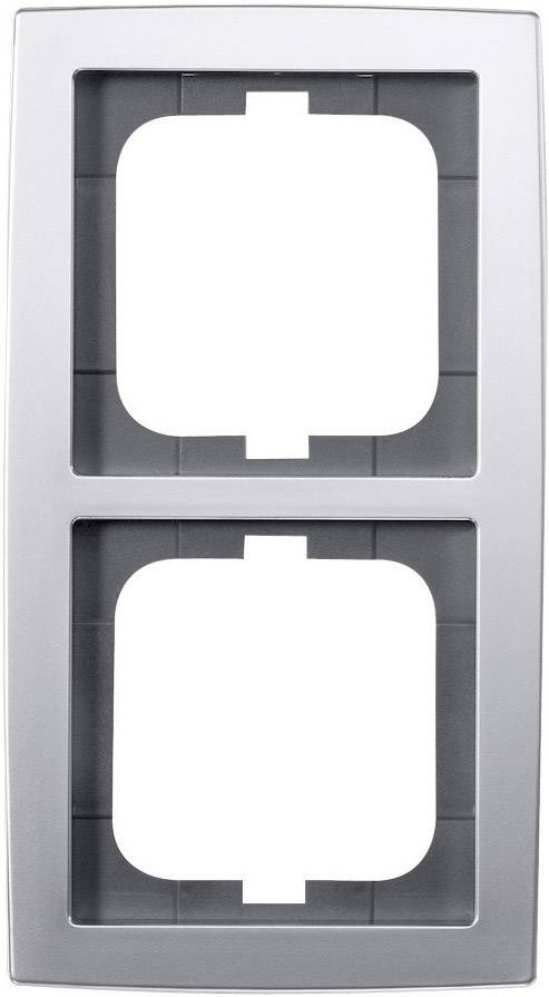 Krycí rámeček na dvě zásuvky Busch-Jaeger Solo, ch