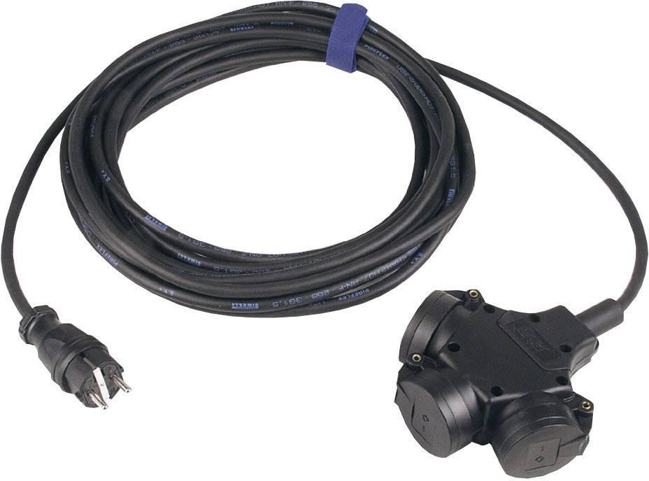 Napájací predlžovací kábel SIROX 345.503, IP44, čierna, 3 m
