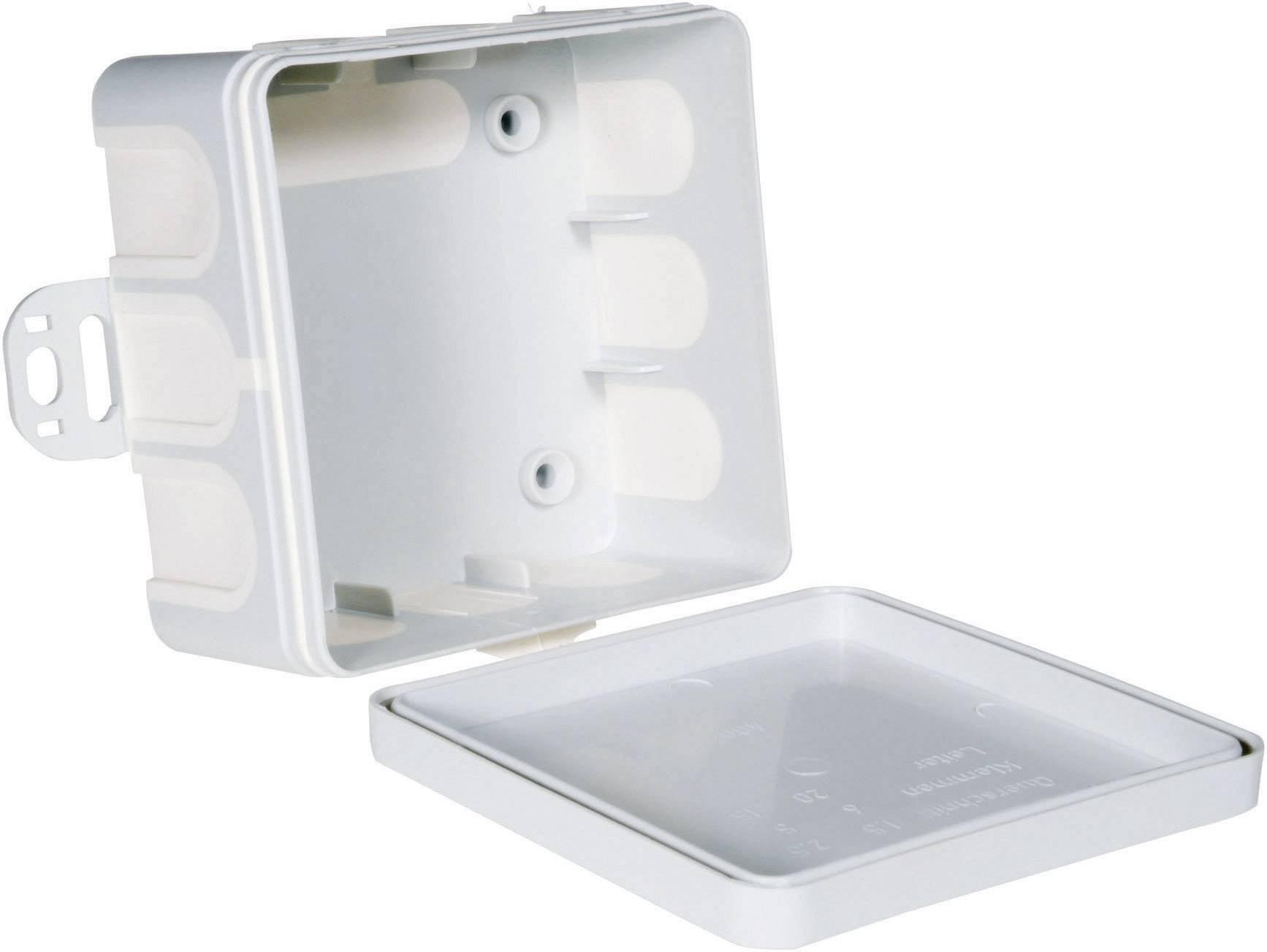 Odbočná krabice do vlhkého prostředí pro nástěnnou montáž 75x75x40 (20 ks)