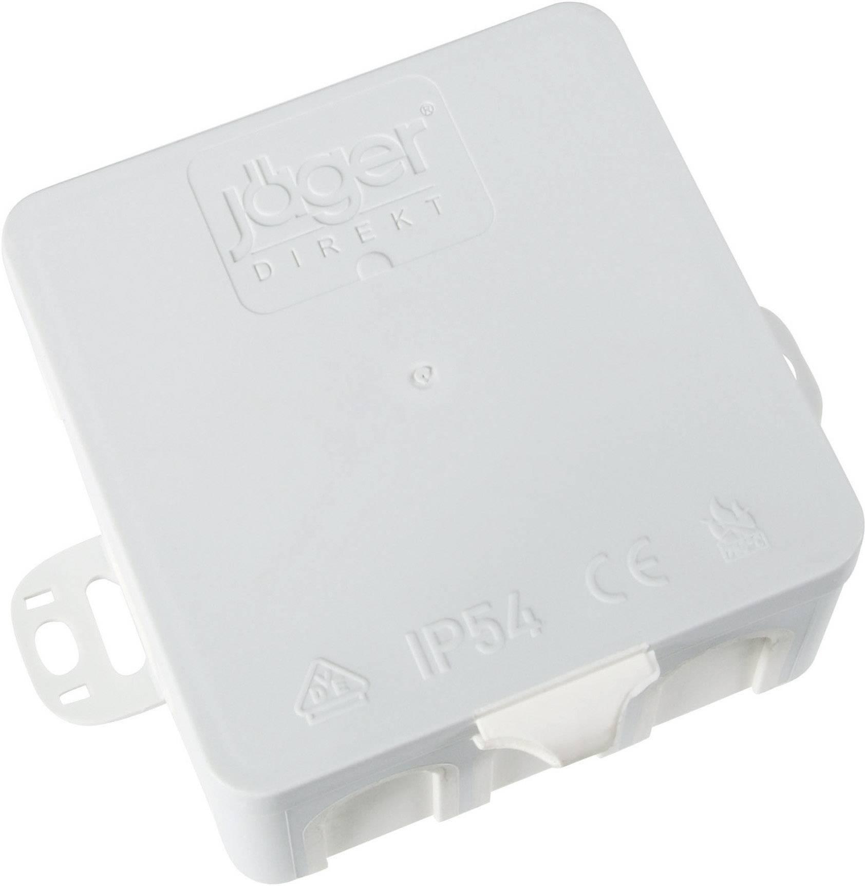 Odbočná krabice do vlhkého prostředí pro nástěnnou montáž 85x85x40 (10 ks)