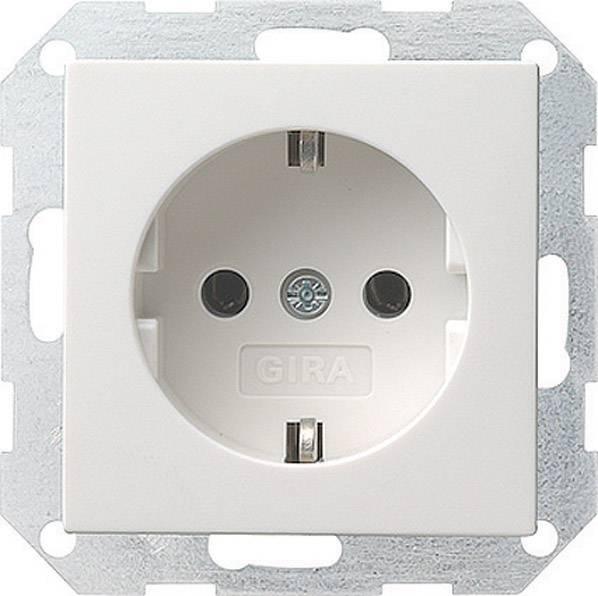 Zásuvka Gira, 018803, lesklá bílá, schuko