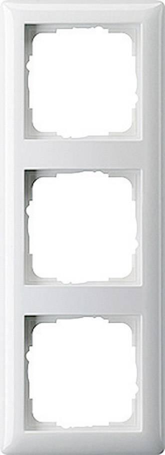 Krycí rámeček Gira, 021304, trojitý, matná bílá