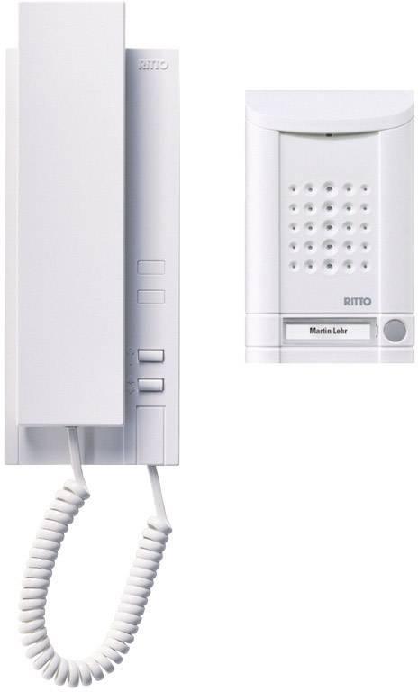 Domový telefón Ritto pre rodinný dom, 1 stanica s telefónom, 1x zvonček