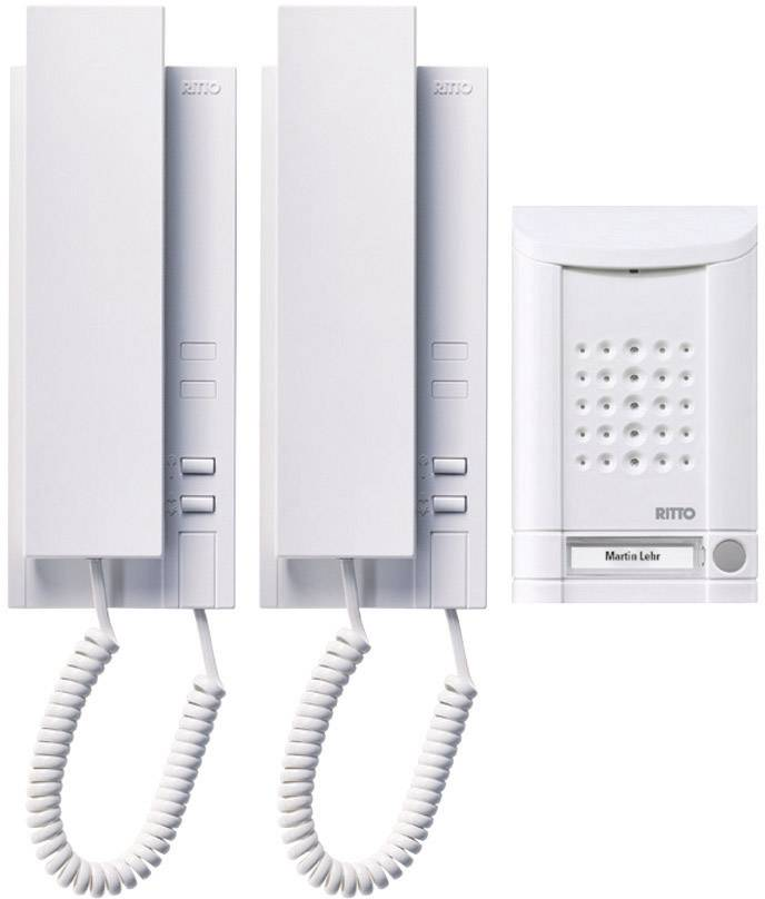 Domovní telefon Ritto Schneider, 16732/70, 2 rodiny, plast, bílá
