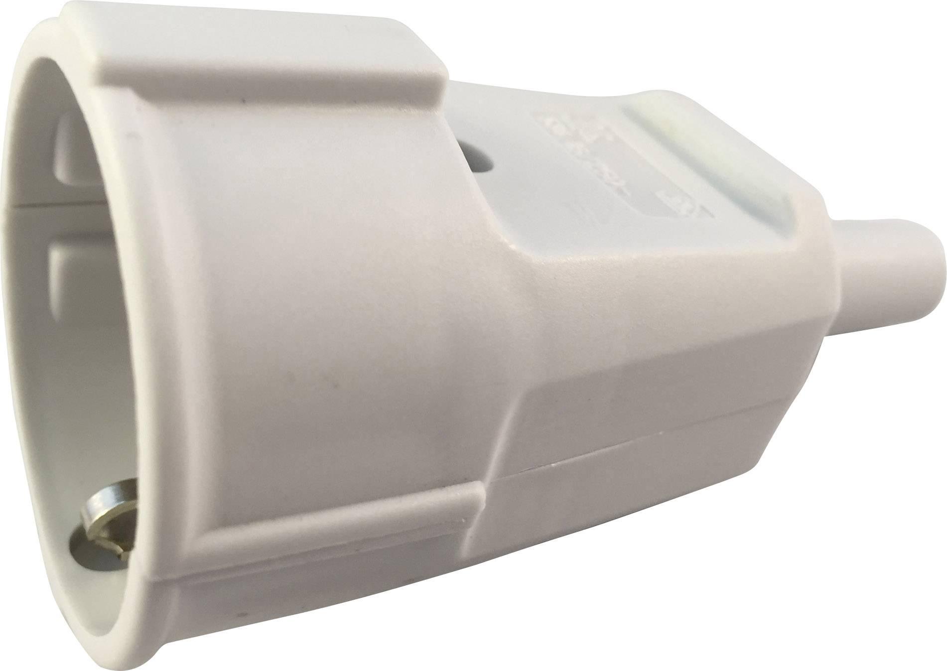 Prepojka SchuKo 627755, PVC, IP20, 230 V, sivá