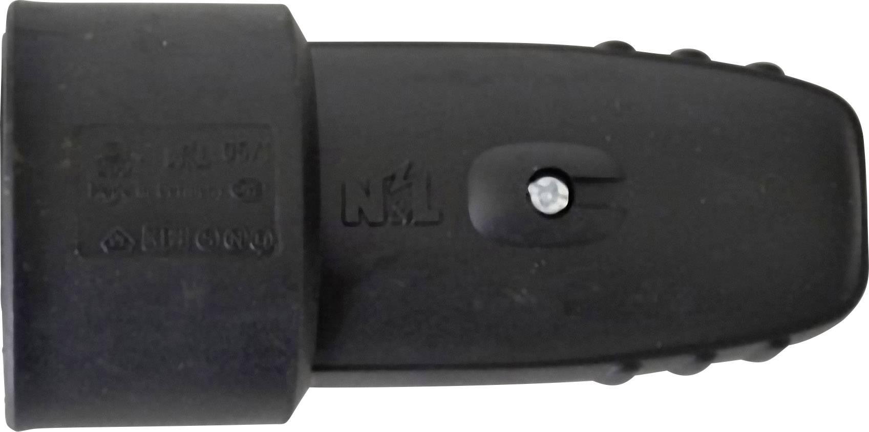 Prepojka SchuKo 627763, guma, IP20, 230 V, čierna