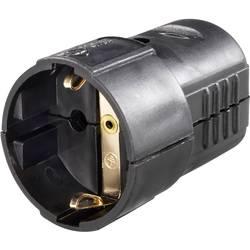Zásuvka na kabel, 0207, schuko, černá