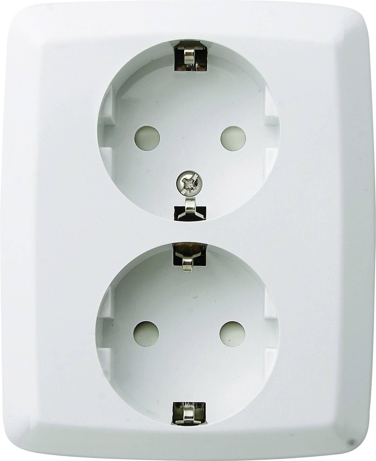 Zásuvka do steny GAO Trend 0302, 2-násobný, krémovo biela