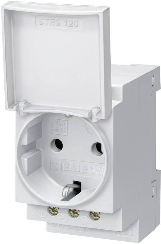 Zásuvka na DIN lištu s krytkou sivá 16 A 250 V/AC Siemens 5TE6801