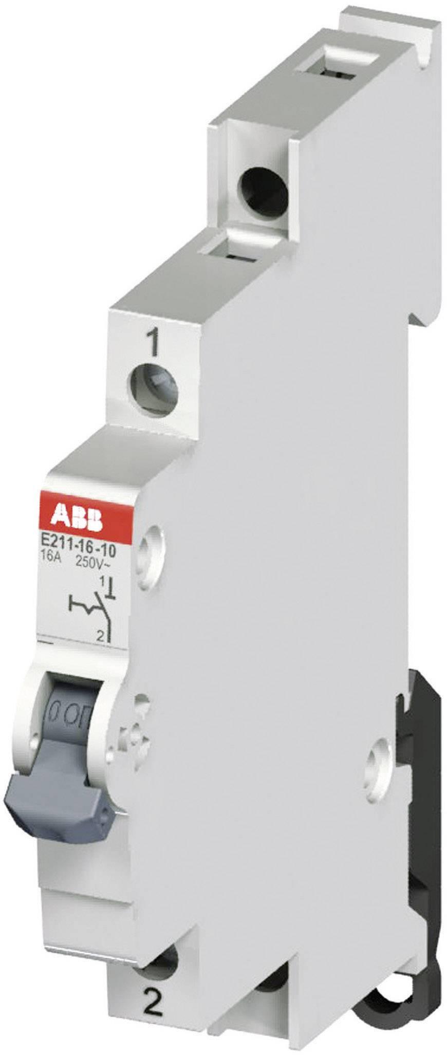 Vypínač ABB E211 16A-10, 16 A, 250 V, 1NO, 2CCA703000R0001