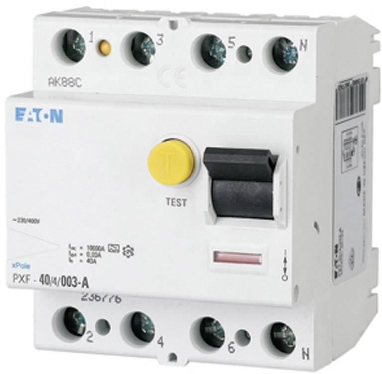Prúdový chránič Eaton 236780, 4-pólové, 63 A, 0.03 A, 400 V