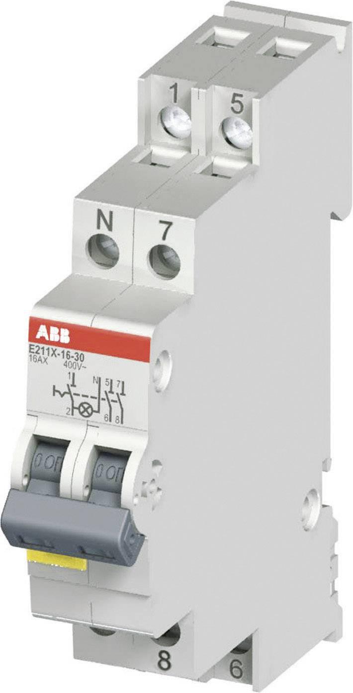 Vypínač s LED E211X 16A-10,16 A, 250 V, 1NO, žlté LED, 2CCA703100R0001