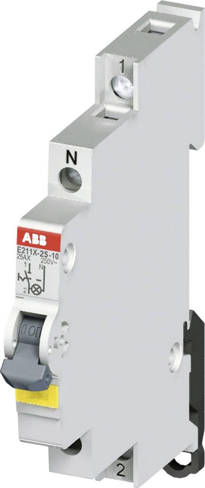 Vypínač s LED E211X 25A-10,25 A, 250 V, 1NO, žlté LED, 2CCA703101R0001