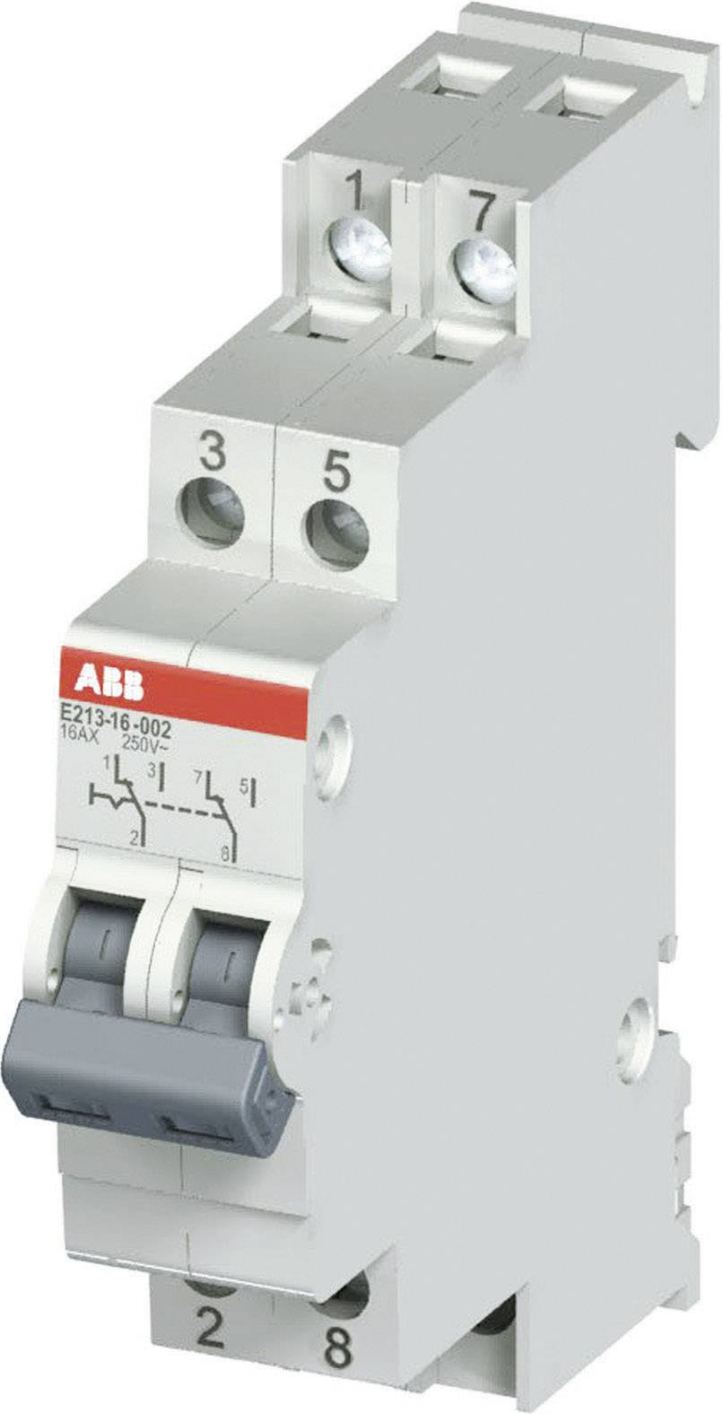 Vypínač na DIN lištu ABB E213 16A-002, 16 A, 250 V, 2 C/O, 2CCA703045R0001