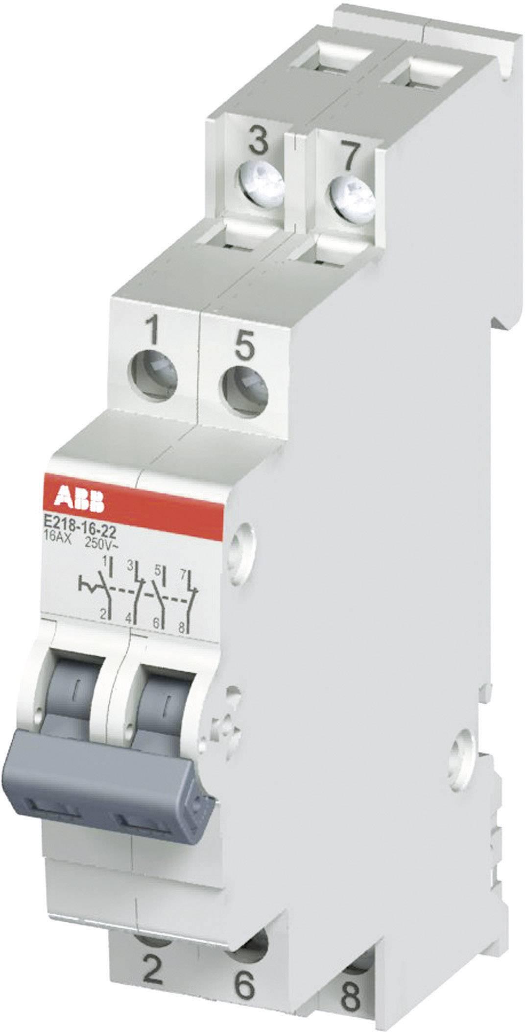 Prepínač ABB E218 16A-22, 16 A, 250 V, 2NO + 2NC, 2CCA703060R0001