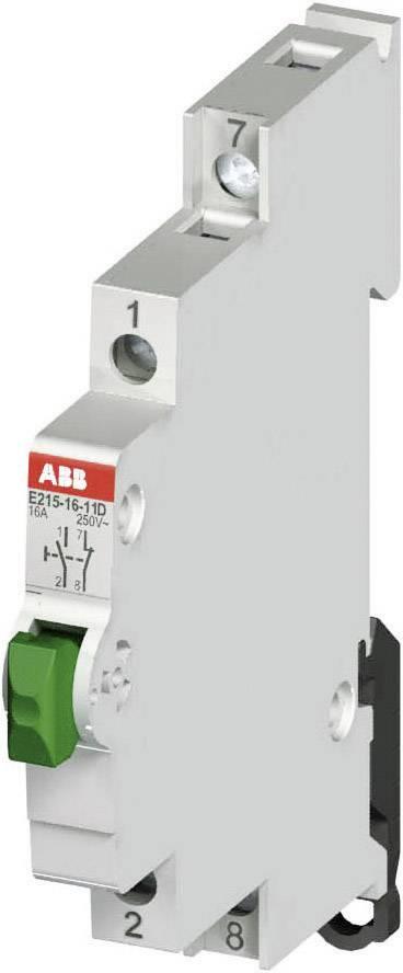 Spínacie tlačidlo na DIN lištu ABB E215 16A-11C, 16 A, 250 V, červené, 2CCA703152R0001